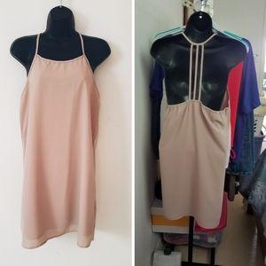 Poetry Light Beige Camisole Slip Dress